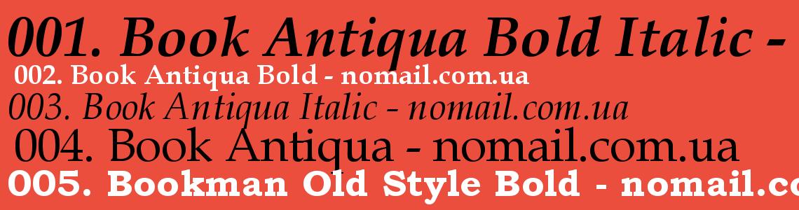 Font Book Antiqua Bold