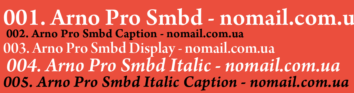 Шрифт arnopro-smbd - noMail