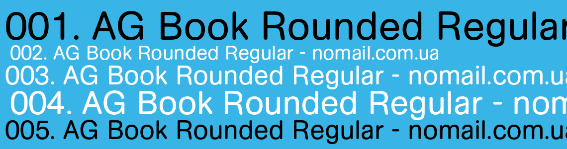 Ag Book Rounded Regular